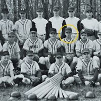 A young Donald Trump (circled) is pictured in the 1961 NYMA baseball team photo. Ilan Fisher is in the top row, third from the left. (Courtesy Ilan Fisher)