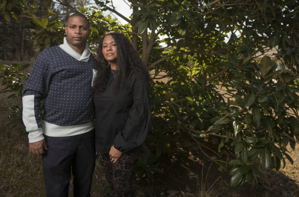 JonJelyn and Tim Savage, seen here at their home in Stockbridge, Georgia, believe that their daughter Joycelyn is being abused by singer R. Kelly. (Courtesy of Michael A. Schwarz for the Washington Post)
