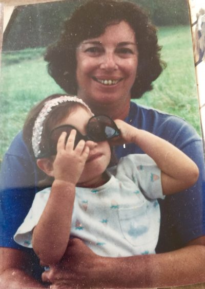 The author's mother, Nancy Levy Gunst, pictured with her granddaughter in 1989. (Courtesy)