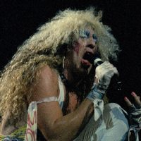 Dee Snider of Twisted Sister is seen performing at Radio City Music Hall in New York in 1986. (Corey Struller/AP)