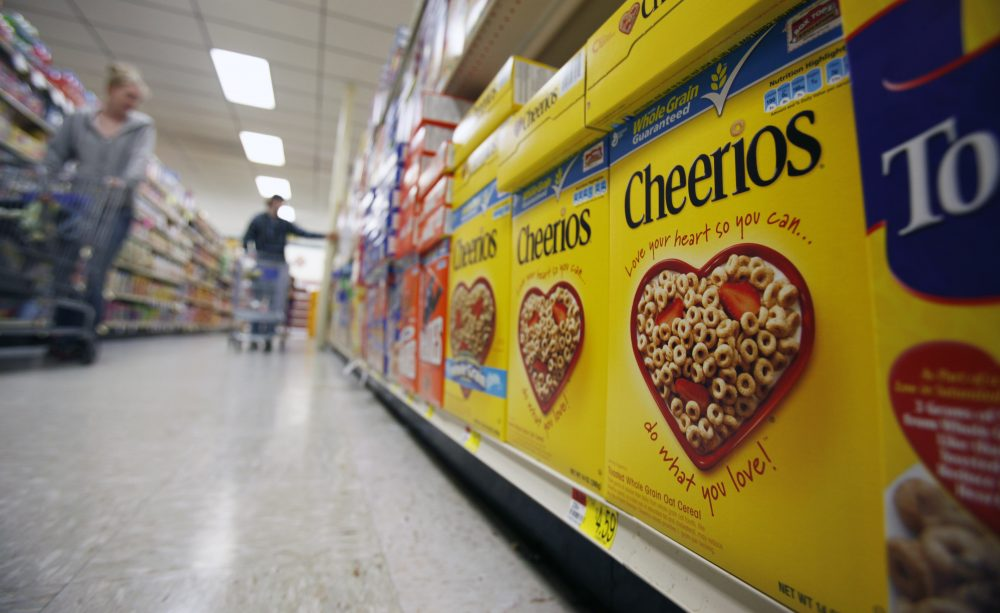In this June 16, 2011 file photo, boxes of Cheerios are shown in a store in Akron, N.Y. In 2013, a 30-second ad for the cereal, featuring a black dad, white mom and biracial child, produced enough vitriol on YouTube that Cheerios requested the comments section be turned off. (David Duprey/AP)