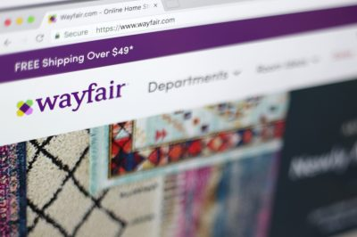 The Wayfair website on a computer in New York. (Jenny Kane/AP)