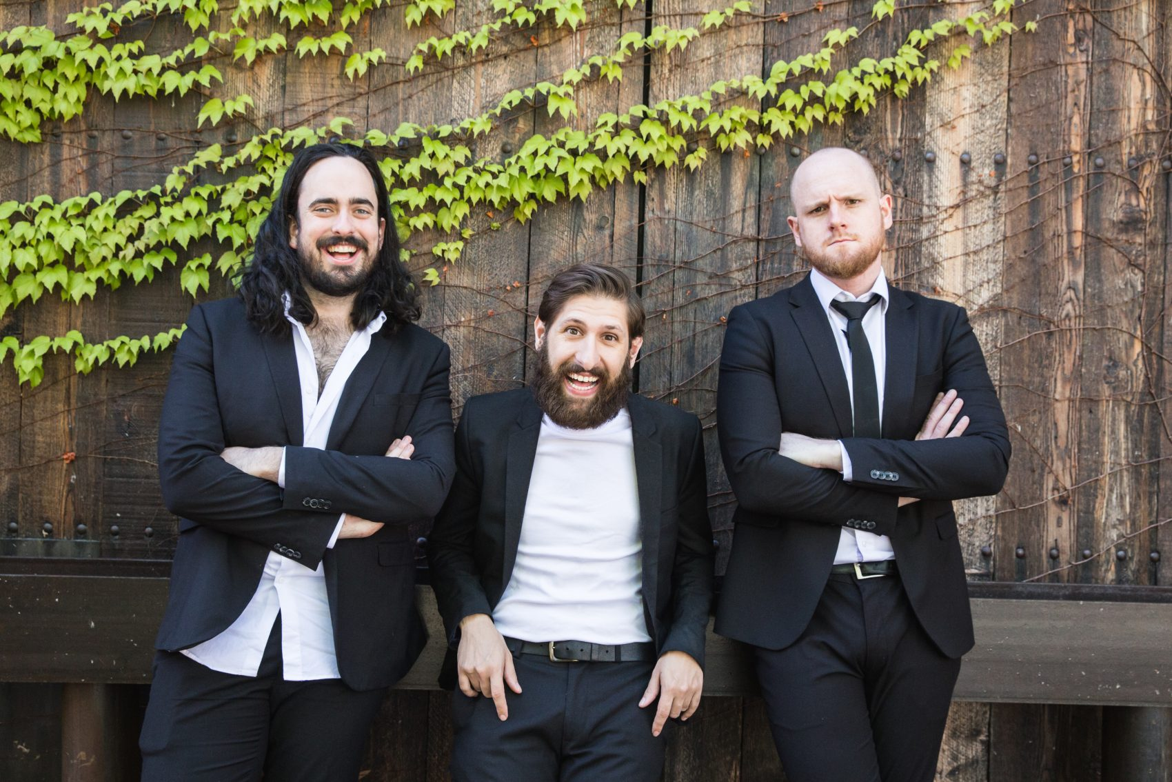 Left to right, Zachary Ruane, Mark Samual Bonanno and Broden Kelly of comedy troupe Aunty Donna. (Courtesy Annelise Nappa)