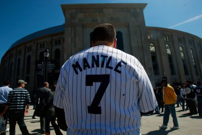 """From that day until the end of his days, he called me 'Mantle,' the Yankees' incredibly swift, strong home-run hitter."" (Mario Tama/Getty Images)"