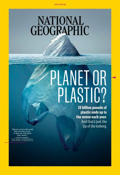 The cover of National Geographic's June 2018 issue. (Courtesy National Geographic)
