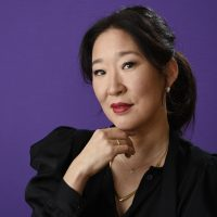 "Sandra Oh, a cast member in the BBC America series ""Killing Eve,"" poses for a portrait during the 2018 Television Critics Association Winter Press Tour at the Langham Hotel on Friday, Jan. 12, 2018, in Pasadena, Calif. (Chris Pizzello/Invision/AP)"