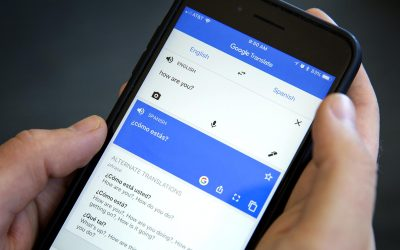 Google Translate is one of the more frequently used language translation apps. (Robin Lubbock/WBUR)
