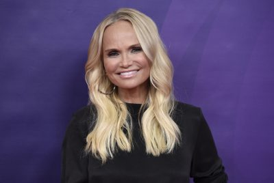 "Kristin Chenoweth, a cast member in the NBC television series ""Trial & Error,"" poses during the 2018 NBCUniversal Summer Press Day on Wednesday, May 2, 2018, in Universal City, Calif. (Chris Pizzello/Invision/AP)"