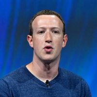Facebook's CEO Mark Zuckerberg delivers his speech during the VivaTech (Viva Technology) trade fair in Paris, on May 24, 2018. (Gerard Julien/AFP/Getty Images)