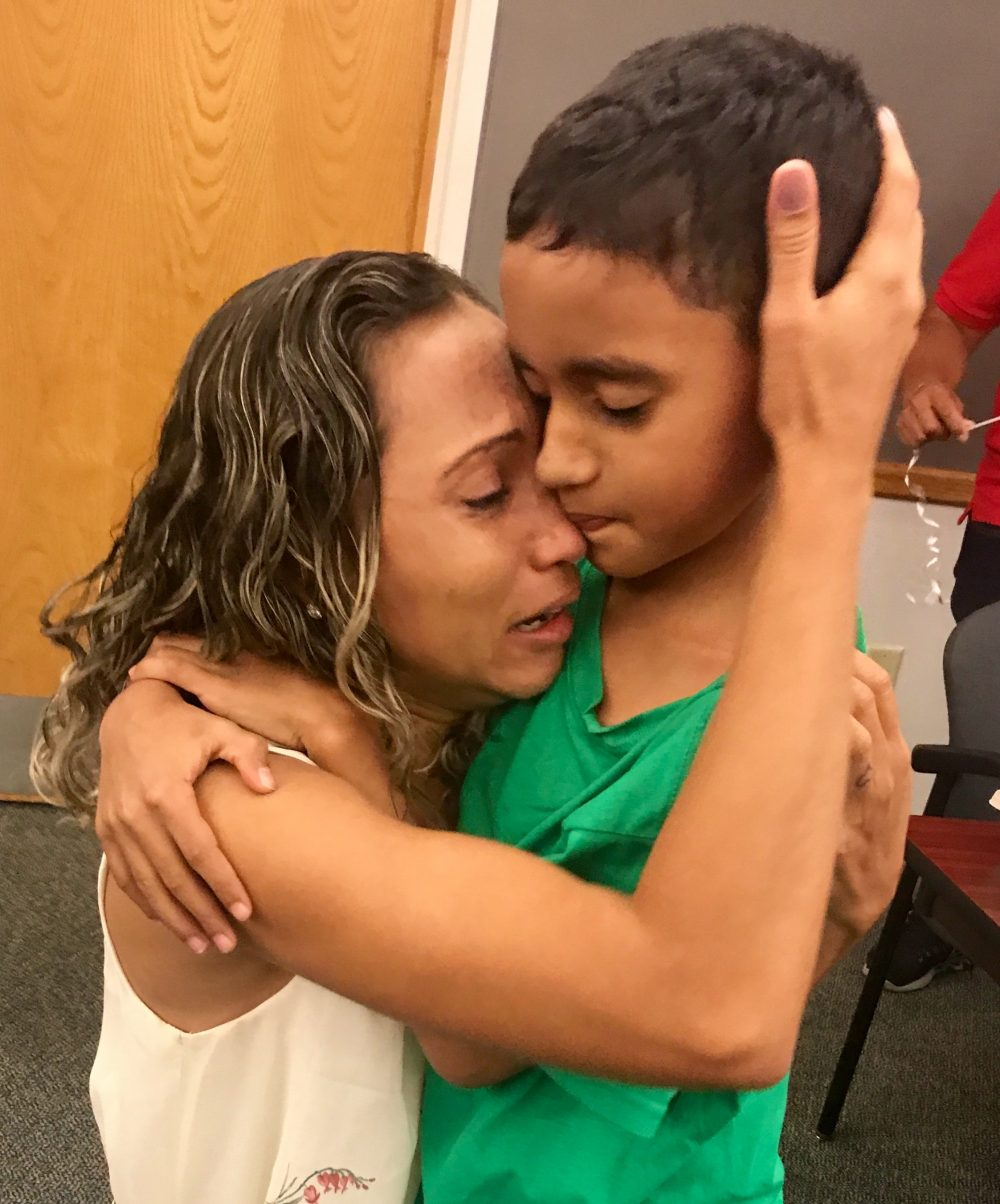 FINALLY! WOMAN REUNITES WITH 9-YEAR OLD SON IN BOSTON, AFTER 45 DAYS...