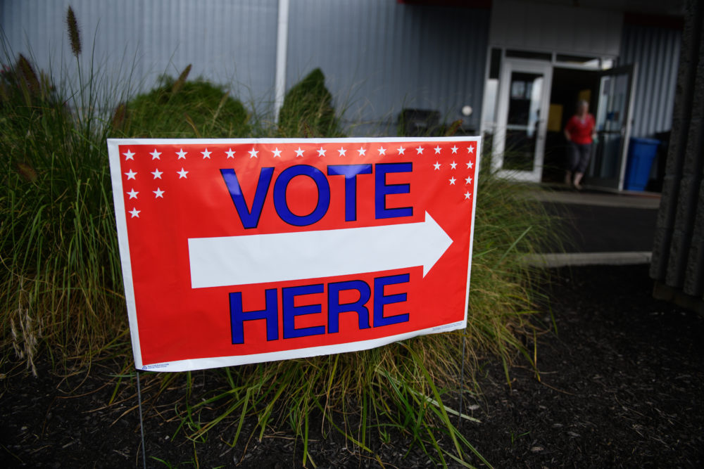 Voters head to the polls at the Licking County Family YMCA to vote in the special election for Ohio's 12th Congressional District on Tuesday, Aug. 7, 2018 in Newark, Ohio. (Justin Merriman/Getty Images)