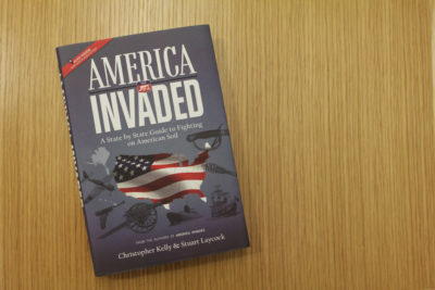 """America Invaded,"" by Christopher Kelly. (Jack Mitchell/Here & Now)"