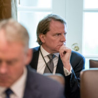 White House counsel Donald McGahn attends a cabinet meeting in the Cabinet Room of the White House, Thursday, Aug. 16, 2018, in Washington. (Andrew Harnik/AP)