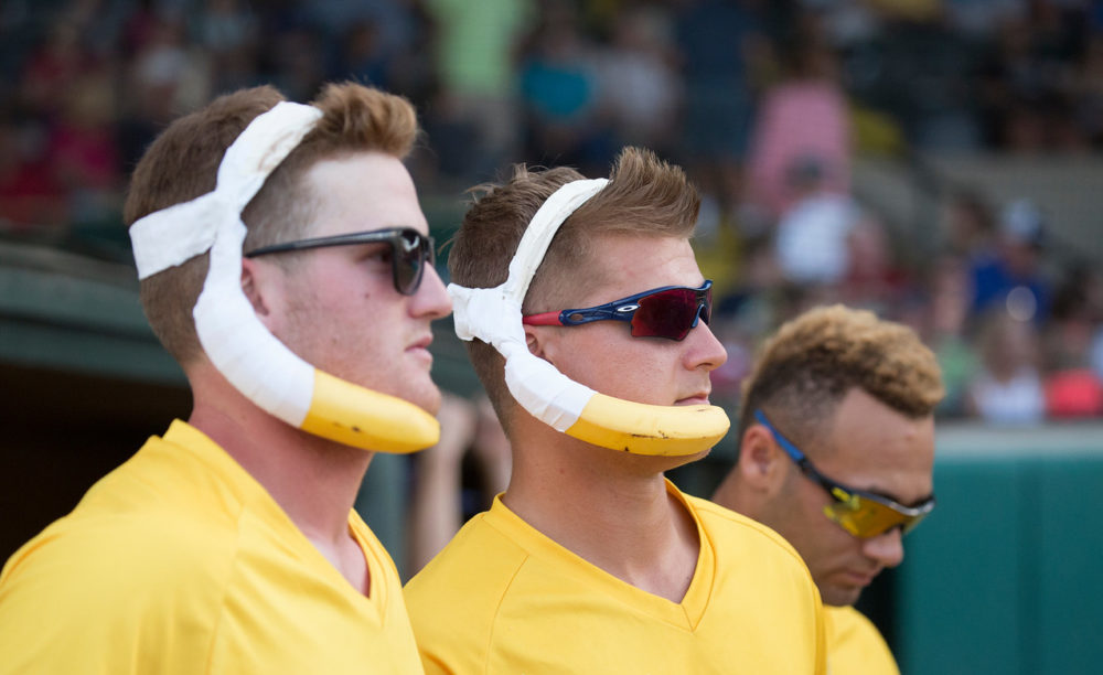 The Savannah Bananas joined the collegiate Coastal Plain League in 2016. (Courtesy Jesse Cole)