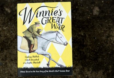 """Winnie's Great War,"" by Lindsay Mattick and Josh Greenhut. Art by Sophie Blackall. (Robin Lubbock/WBUR)"