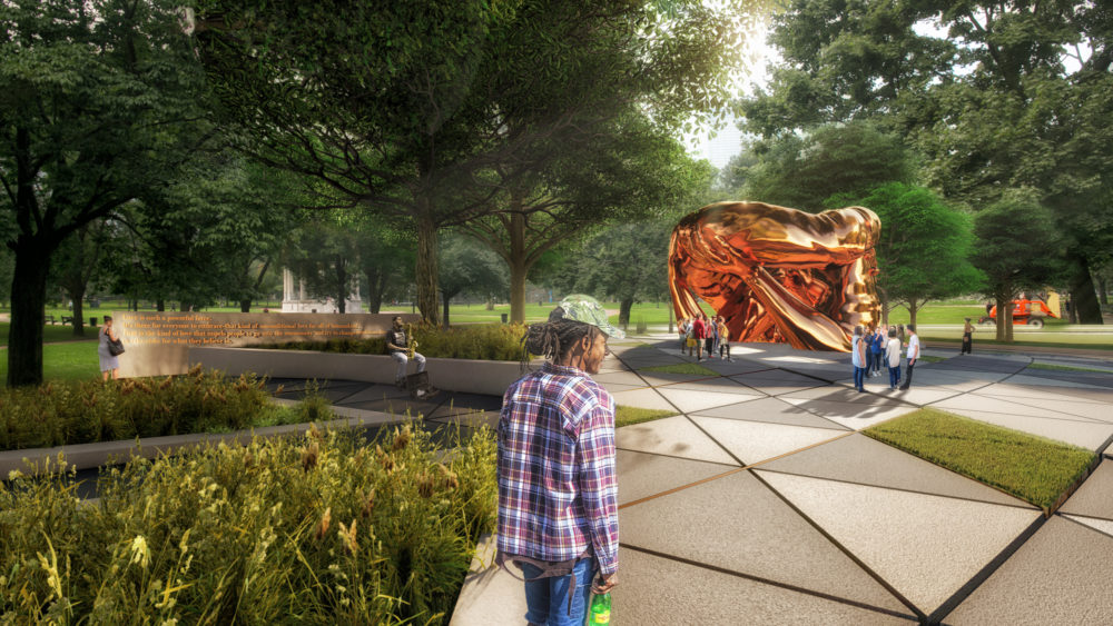 Hank Willis Thomas and MASS Design Group's proposed memorial (Courtesy MLK Boston)