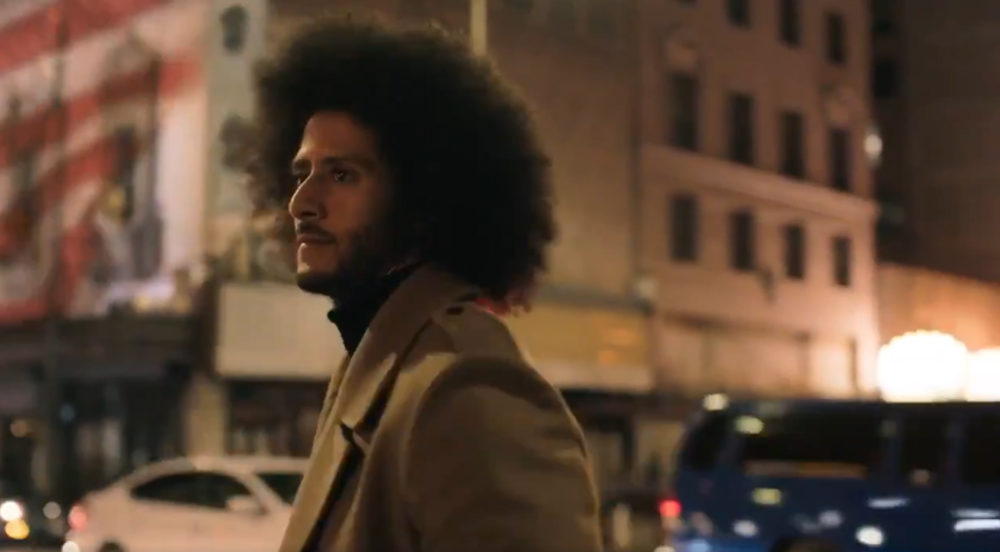 An image from a new Nike advertisement featuring Colin Kaepernick.