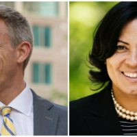 Independent Mike Maloney and Democrat Rachael Rollins will face off in the Suffolk County district attorney's office race in November. (Courtesy)