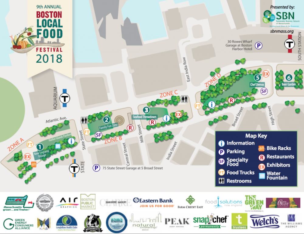 A map of Boston Local Food Festival. (Courtesy)