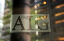 The AIG logo is shown Wednesday, Sept. 17, 2008 in New York. (AP Photo/Mark Lennihan)