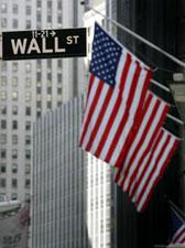 A street sign for Wall Street is shown Wednesday, Sept. 17, 2008 in New York.  (AP Photo/Mark Lennihan)