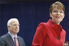 Sen. John McCain and Alaska Gov. Sarah Palin in Columbus, Ohio. (AP)