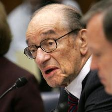 Former Federal Reserve Chairman Alan Greenspan testified on Capitol Hill before the House Oversight and Government Reform Committee, Oct. 23, 2008. (AP)