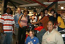 West Philly Hybrid X team at the Harley-Davidson Museum.