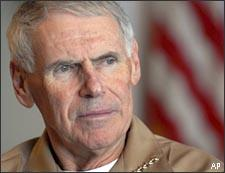 Adm. William J. Fallon in February 2007.  (AP)