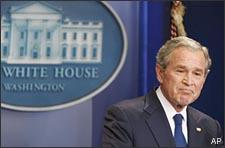 President George W. Bush speaks during the final news conference of his administration, Monday, Jan. 12,2009, in the Brady Press Briefing Room of the White House in Washington. (AP)