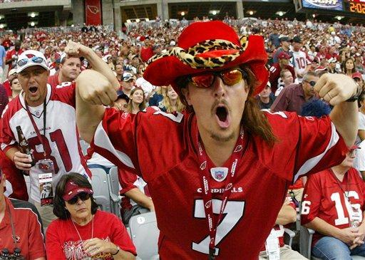 Cardinals fans finally have something to cheer about as their team advanced to the Super Bowl for the first time in franchise history. AP Photo.