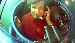 Sylvia Earle, at work. (Google Earth)
