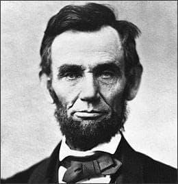 Abraham Lincoln, 1863.