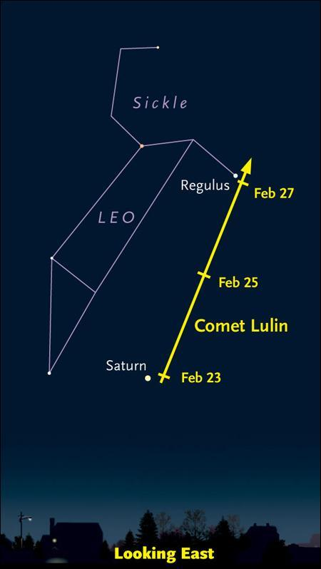 Where to look for Comet Lulin. (Courtesy Sky & Telescope)