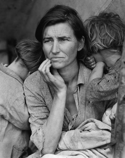 Migrant Mother in Nipomo, California, 1936.