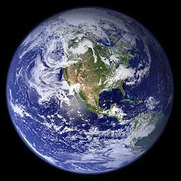 The Earth as seen from space in a 2007 photo composite image from NASA made over a span of several months and from different angles. (AP/NASA)