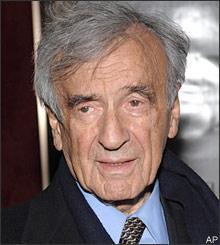 Elie Wiesel attends the premiere of 'The Reader' at the Ziegfeld Theater on Wednesday, Dec. 3, 2008 in New York. (AP)