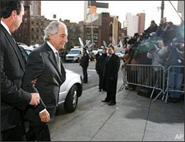 Bernard Madoff arrives at federal court in New York on Thursday, March 12, 2009.(AP)
