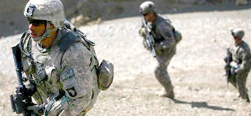 U.S. soldiers of the 101st Airborne Division patrol in the outskirts of Bagram north of Kabul, Afghanistan, on Sunday, March 8, 2009. President Barack Obama has ordered 17,000 more troops to Afghanistan to bolster the 38,000 American forces already in the country. (AP)