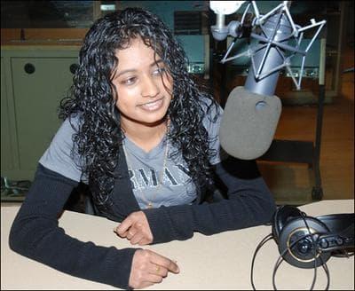 Priya Suntharalingam in the Here & Now Studios