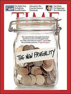 The New Frugality (Time cover.)