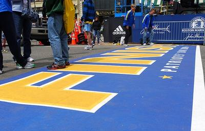 The finish line of the 113th Boston Marathon. Medical responders expect to treat 800 to 900 runners whose bodies will crack in the strain of running the 26.2 miles from the starting line to this point. (stevegarfield/Flickr)