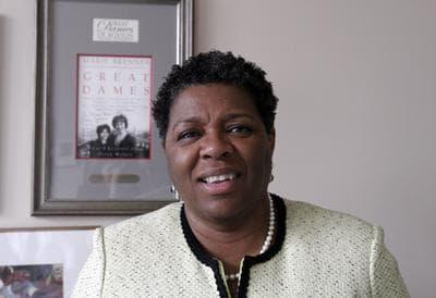 Wheelock College President Jackie Jenkins-Scott. (Sarah Bush/WBUR)
