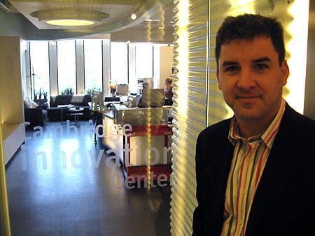 Cambridge Innovation Center President and CEO Tim Rowe. (Sarah Bush/WBUR)