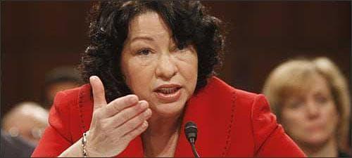 Supreme Court nominee Sonia Sotomayor testifies before the Senate Judiciary Committee. (AP)