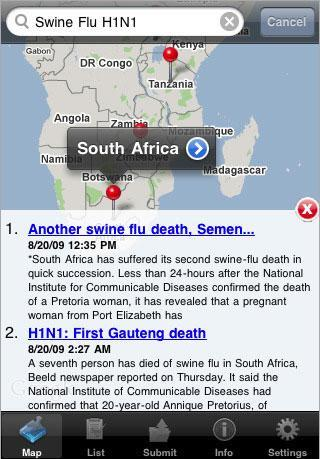 Want to find out about swine flu outbreaks in your neighborhood? There's an app for that, too.