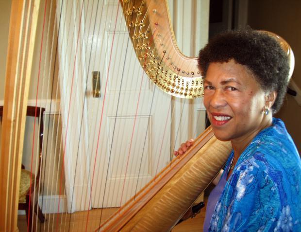 Boston Symphony Orchestra harpist Ann Hobson Pilot (Andrea Shea/WBUR)