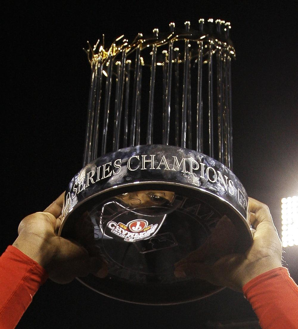 The Commissioner's Trophy, awarded to the World Series champions