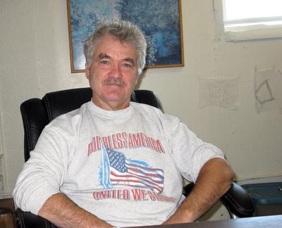 """Larry Kelley, the self-described """"Amherst town conservative,"""" supported the town resolution to welcome Guantanamo detainees. (Deborah Becker/WBUR)"""