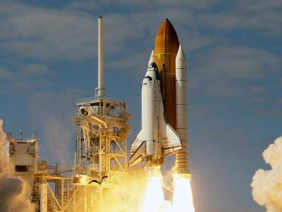 Space shuttle Atlantis lifts off from pad 39A at the Kennedy Space Center in Cape Canaveral, Fla, on Monday. (AP)